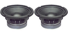 """NEW (2) 6.5"""" Woofer Replacement Speakers.Home Audio.6-1/2"""".4 ohm.six inch PAIR"""