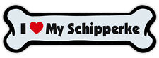 Dog Bone Shaped Magnet - I Love My Schipperke - Cars, Trucks, Refrigerators