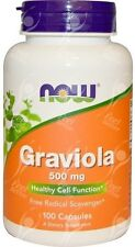 Now Foods, Graviola x100Caps - 24 Hour Dispatch - FRESHEST AVAILABLE GUARANTEED!