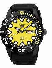 Seiko 5 Automatic SRPA11 Yellow Dial Black Rubber Band Men's Watch