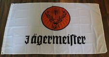 Large 3' x 5' NEW never opened White Jagermeister Flag - Banner - Backdrop