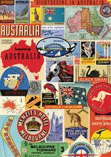 Cavallini Australia Collage Wrapping Paper