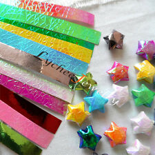 90 Strips Pearl Shiny Folding Origami Paper Lucky Wish Star DIY Hand Crafts New