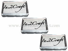 3 x IN 2 CRAFT SILVER DYE INKPAD STAMP PAD CARDMAKING SCRAPBOOKING NEW SEE SHOP