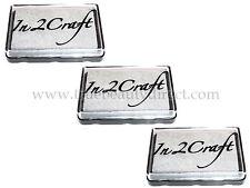 3 x IN 2 CRAFT SILVER DYE INKPAD STAMP PAD CARDMAKING SCRAPBOOKING NEW SEE SHOP