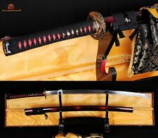1060 High Carbon Steel Full Handmade Sharp Blade Sword Japanese Samurai KATANA