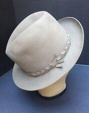 Borsalino Felt Fedora hat Italy New with tags size 6 3/4