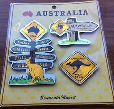 Australian Souvenir Fridge Magnets Kangaroo Koala Road Signs Shiny NEW