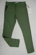 SAM'S REBELLION green cotton The Grand Duel chino pants size S/30 BNWT