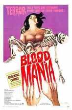 Blood Mania Poster 01 Metal Sign A4 12x8 Aluminium