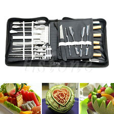 New 46Pcs/Set Portable Vegetable Fruit Food Box Peeling Carving Kitchen Tool Kit