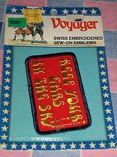 "NOS Voyager Emblem Patch Keep Your Ears in the Sky  2 x 3 1/4"" H  Package Wear"