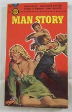 MAN STORY MAR 1950 GOLD MEDAL #102 1ST ED PBO TRUE MAGAZINE MACKINLAY KANTOR