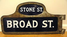 Vintage New York Stock Exchange Curb Market Broker NYSE Wall BROAD STREET Sign