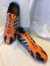 Adidas Adistar Md Track And Field Athletic Shoes Orange Black Sz 10.5