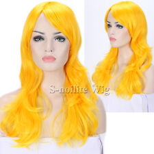 Long Cosplay Wig Straight Curly Wavy Pastel Ombre Synthetic Hair Wig Read Purple