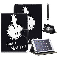"Universal Have a Nice Day Pattern Leather Stand Case Cover For Linx 7"" Tablet PC"