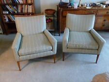 RARE MID CENTURY DIRECTIONAL PAUL MCCOBB WOOD FRAME LOUNGE CHAIRS W ARMS P