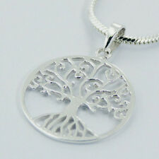 USA Seller Shimmering Tree of Life Pendant Sterling Silver 925 Best Deal Jewelry