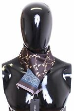 NWT $250 DOLCE & GABBANA Scarf Men's Purple Bird Pattern 100% Silk Wrap Necktie