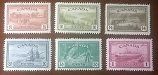 Canada #268-73 King George VI Peace Issue, NH