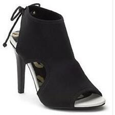 NEW Womens JUICY COUTURE MALORIE BLACK Heels Dress Booties Shoes SZ 7