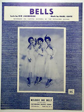 The DeCASTRO SISTERS Sheet Music BELLS Criterion Publ. 60's GIRL Group POP Vocal