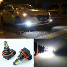 2x Error Free H11 CREE 20W LED Fog Lights DRL Bulb For Mazda 3 Axela 2014-2016