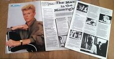 DAVID BOWIE 'man in the moonlight' 4 page UK ARTICLE / clipping