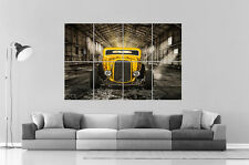 YELLOW HOT ROD CLASSIC USA CAR HUGE  Wall Poster Grand format A0 Large Print