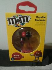 New m&m's earbuds or Headphones with microphone sweet sounds, metallic red