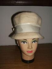 Vintage MAHARA Beige/Ivory Mohair & Wool Ladies Hat