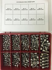 "250 pcs M5 M6 M8 Assorted cap allen socket bolts Stainless Steel ""10 sizes Box"""