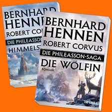 Set: Bernhard Hennen |  Die Phileasson-Saga 2+3 | Himmelsturm + Die Wölfin(Buch)