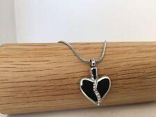 Cœur argent avec diamant gems urne collier crémation cendres cendres souvenir pendentif