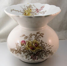 Antique 1800's Victorian Ironstone Ladies Spittoon with Roses