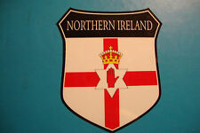 2x NORTHERN IRELAND  FLAG SHIELDS CAR WINDOW BUMPER  STICKERS  BIKE HELMET