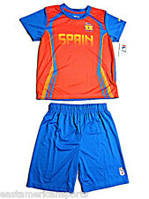 Spain Espana Fila Soccer Uniform Jersey Shorts Set 2pc Shirt Pants Kids Boys 5/6