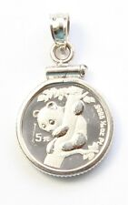 1996 China 1/20 oz Platinum Panda Necklace Pendant Charm