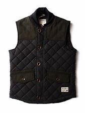 Jack Wills Tredcroft Navy Quilted Tweed Gilet Body Warmer BNWT S Small RRP £80