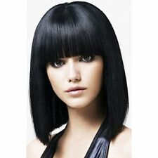100% Real Hair !Fashion Charming Black BOBO Wig Short Straight Human Hair Women