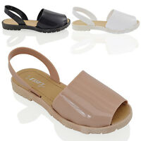 LADIES JELLY SANDALS MENORCAN WOMENS SUMMER FLIP FLOPS BEACH SHOES SIZE 3-8