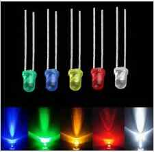100pcs 3mm White Green Red Blue Yellow LED Light Bulb Emitting Diode Lamps EY