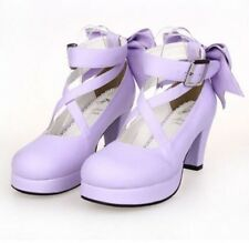 Sweet Womens Madoka Kaname Cosplay High Heels Lolita Shoes 12 Candy Colors Size