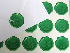 60 Celtic Knot Wax Seal Effect Envelope Stickers Irish Scots Welsh Breton 031