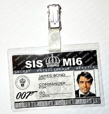 James Bond 007 ID Badge Timothy Dalton Cosplay Costume Fancy Dress Halloween