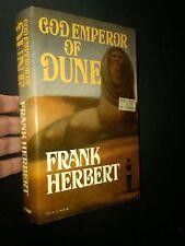 SIGNED God Emperor of Dune Frank Herbert Putnam 1981 First Edition HCDJ