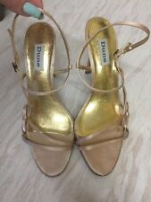 DUNE Pale pink satin strappy sandals with Bow Detail SZ 6 / 39 WORN ONCE