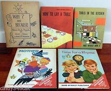 5 Retro Childrens Books 1960s Tools in the Kitchen Table Nature Study Elf Books