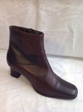 Clarks Brown Ankle Leather Boots Size 5